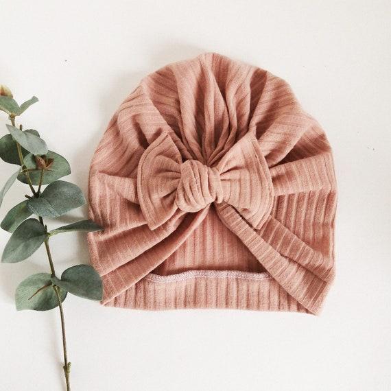 knotband women grey hospital hat handmade hat, newborn hat babygirl headwrap baby hairbow hat women turban Grey Baby Turban Hat