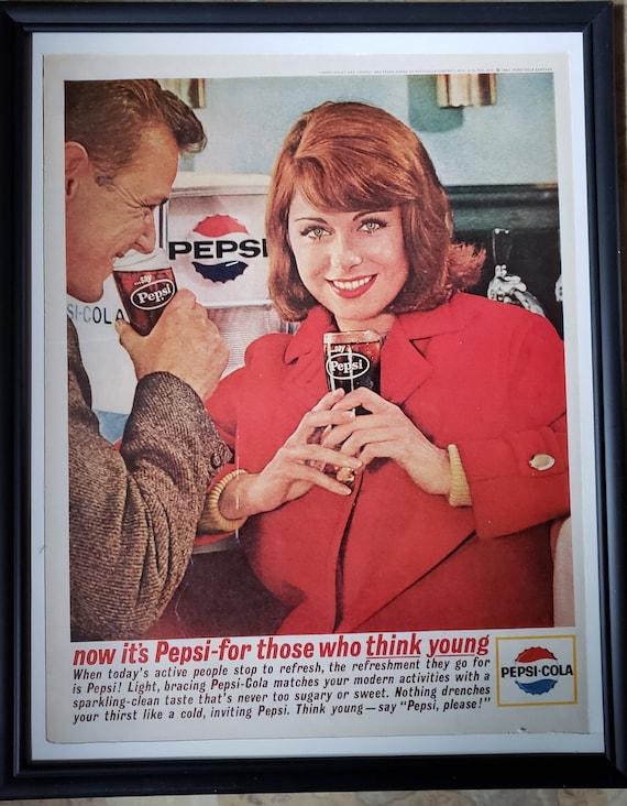 "1950s Pepsi Vintage Illustrations  Ad 14 x 11/"" Photo Prin"