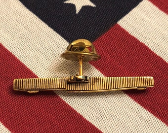 b02aa00a Vintage United States Navy WWII Aircraft Carrier Pin Gold Tone