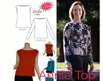 Annie Top - Pre-Printed Pattern