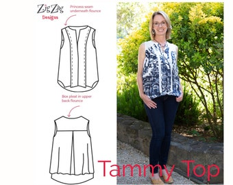 Tammy Top - Pre-Printed Sewing Pattern