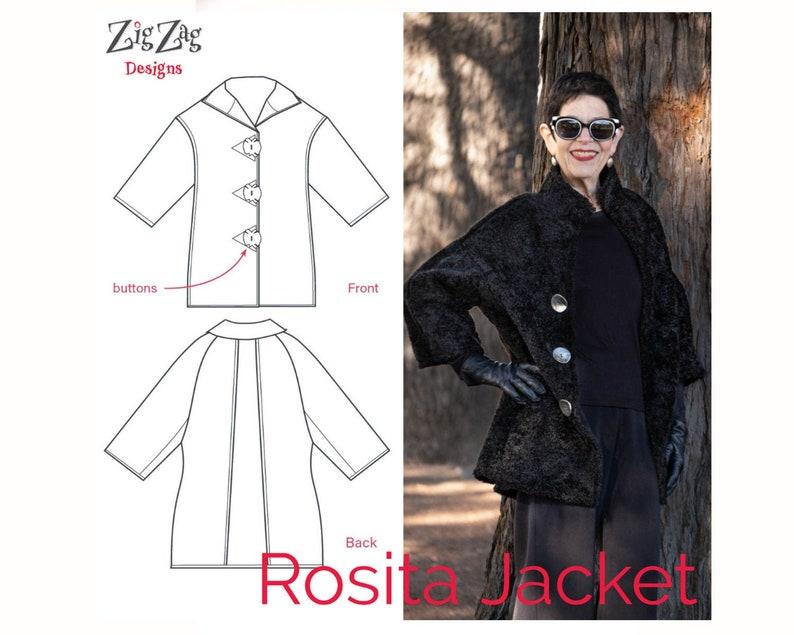 Rosita Jacket  Pre-Printed Pattern image 0