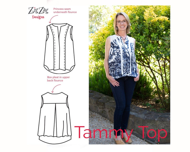 Tammy Top  Pre-Printed Sewing Pattern image 0