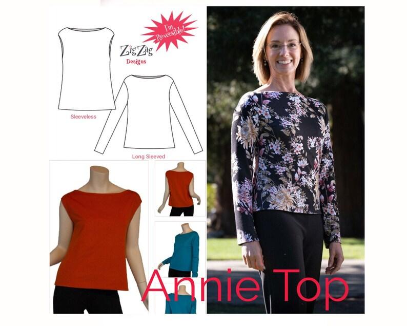 Annie Top  PDF Pattern image 0