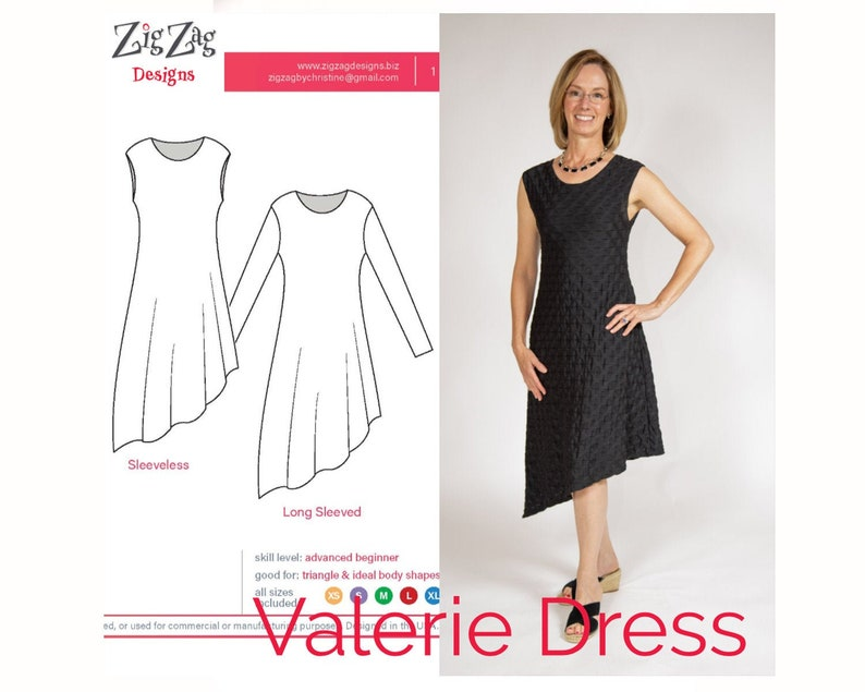 Valerie Dress  PDF Sewing Pattern image 0
