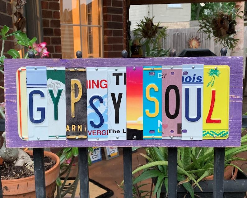 GYPSY SOUL custom license plate signs / Shabby Chic/ Gypsy Chick