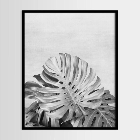 monstera tropische pflanze tropisches blatt moderne kunst etsy. Black Bedroom Furniture Sets. Home Design Ideas