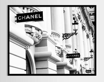 Chanel print, Chanel photo, Fashion art, Modern art, Wall decor, Digital art, Printable, Digital poster Instant Download 8x10, 11x14