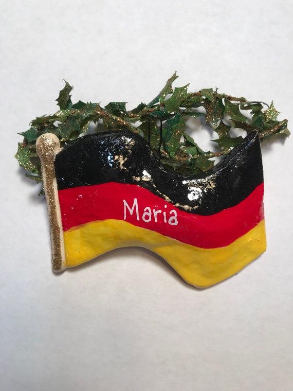 German Flag Personalized Dough Ornament