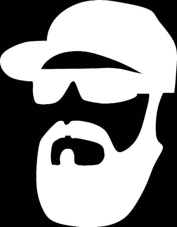 Beard Glasses /& Hat Hipster Die Cut Vinyl Car//Truck Decal Sticker US Seller