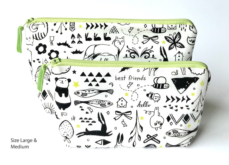 Sleep Tight Washable Makeup Bags /& Organizing Pouches