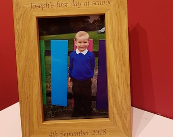 First Day Of Kindergarten Frame Etsy