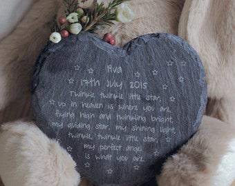 Angel baby Memorial slate plaque. Infant loss awareness. rememberance keepsake. infant loss, miscarriage, stillbirth keepsake, bereavement.