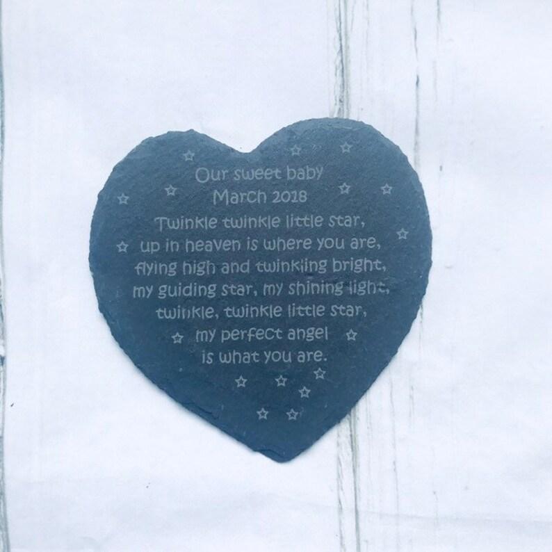 Personnalisé Gravé Coeur naturel ardoise Pet plaque commémorative Avec N/'importe Quel Message