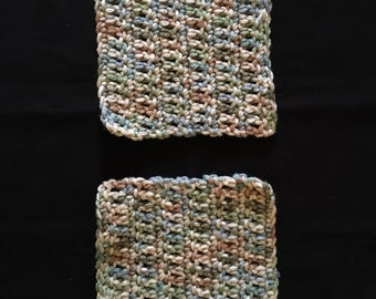 Crocheted coasters (set of two)