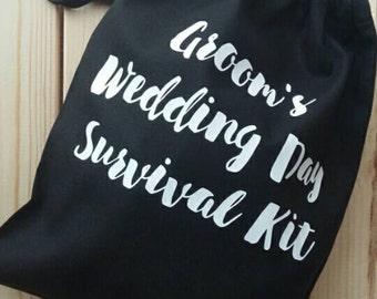 Groom's Wedding Day Survival Kit BLACK