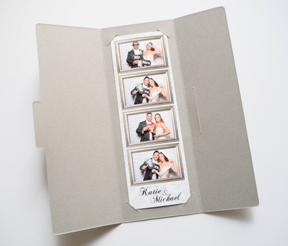 Photo Strip Holder 2x6 Photo Strips Party Favor Gray Silver Etsy