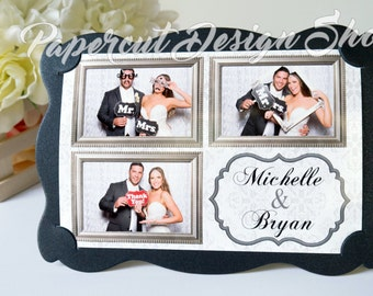 Photo Booth Frame Photo Holder Wedding Birthday Party Favor Photo Frame Cardstock WAVY STYLE 4x6 Size - 100 PCS