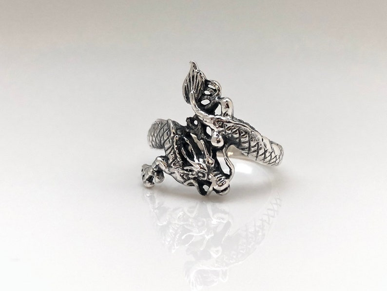 Dragon Ring  Silver Dragon Ring  925 Sterling Silver  Dragon Jewelry