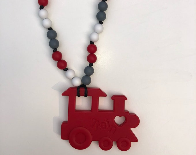On The Go Train teether- Red