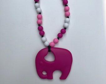 On The Go Elephant teether- Fuchsia