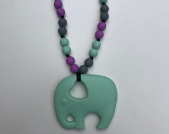 On The Go Elephant teether- Mint