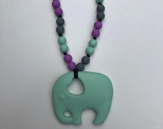 On The Go Elephant teether- Mint