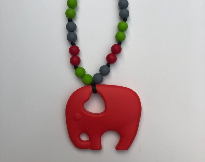 On The Go Elephant teether- Red