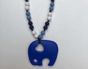 On The Go Elephant teether- Navy