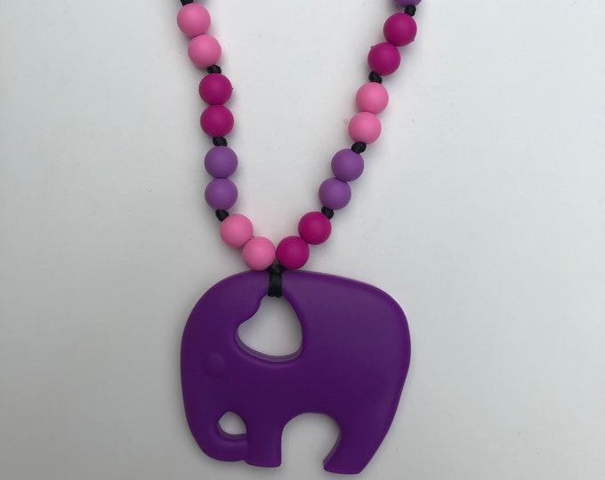 On The Go Elephant teether- Purple
