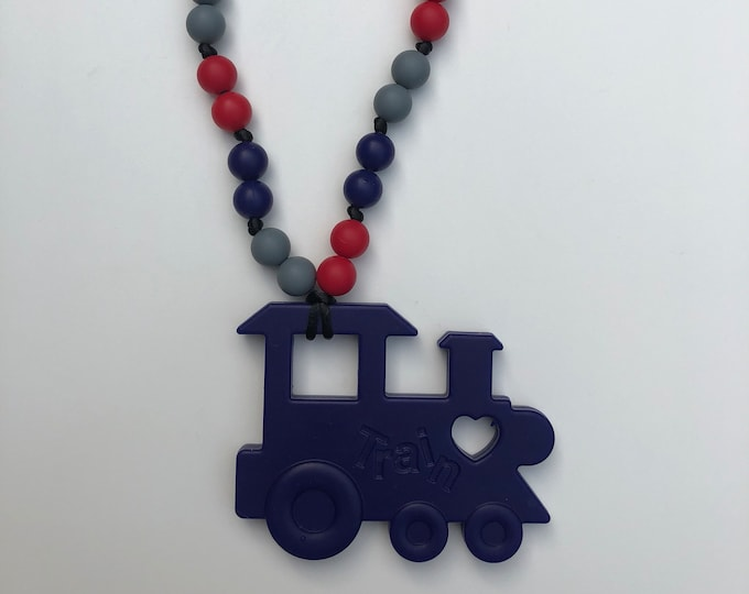 Train teether-Silicone teething toy for teething baby- Carrier or carseat accessory