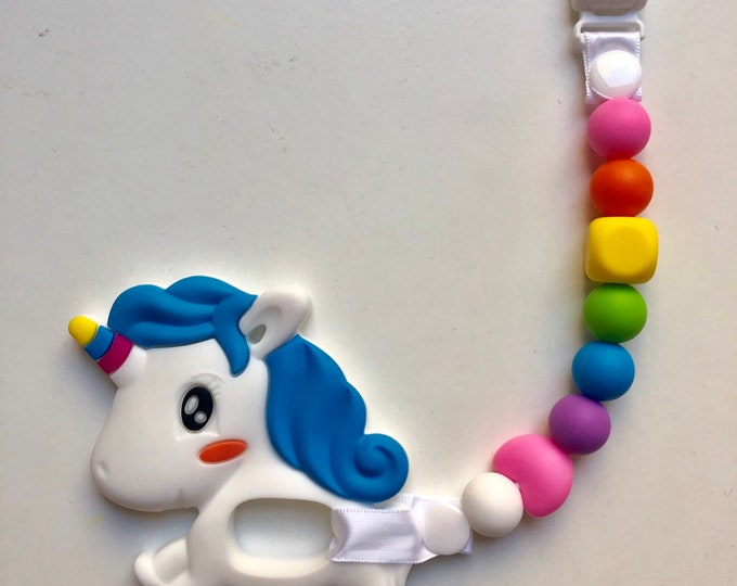 Unicorn Teether and Accessory Clip