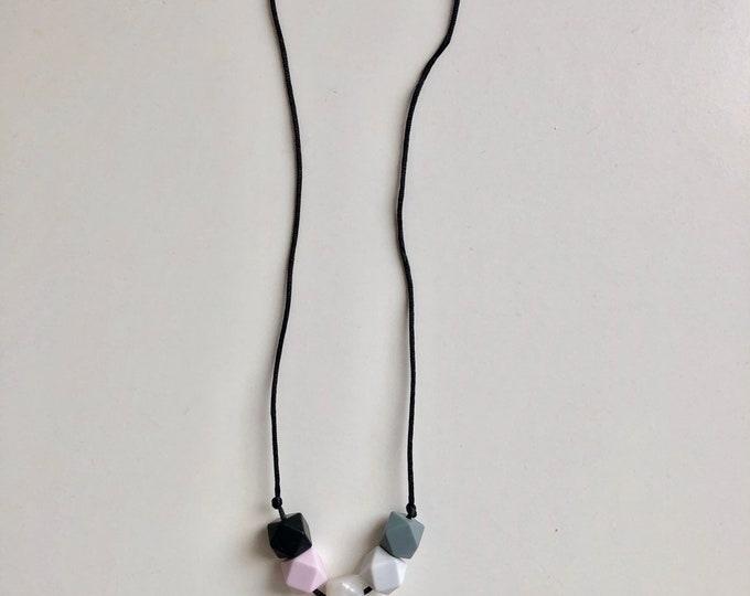 "Cinco necklace- ""Pretty in Pink"""