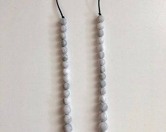 Stella necklace in Marble