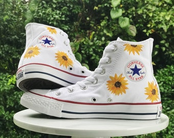 ea3d5aa4bcb0b0 Hand-Painted Sunflower Shoes
