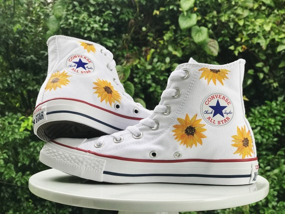 Hand-Painted Sunflower Shoes Custom Painted Converse Painted  2f290f090
