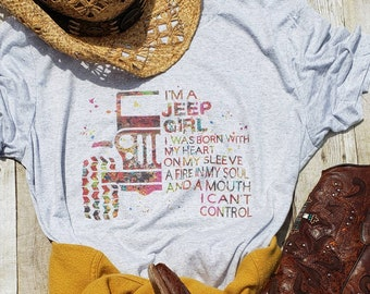 Jeep Girl Shirt Im A Tee Mothers Day Gift Life Idea Lover Clothes