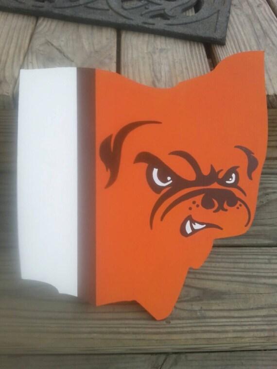 Cleveland Browns Logo Ohio Wall Art | Etsy