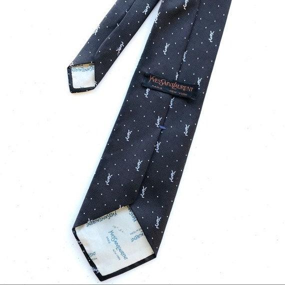 Yves Saint Laurent Vintage Brown Black Necktie