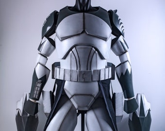 Star Wars Clone Commander Wolfee Armor & Helmet Phase 2 | Clone Wars Season 4 - 6 | Commander Wolfee Cosplay | 104th battalion