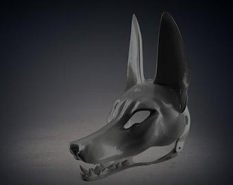 Anubis Cosplay Mask   3D Print Furry Animal Cosplay mask   RAW 3D print Mask for DIY finish