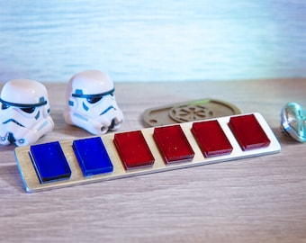 Imperial Officer Rank Bar / Star Wars A New Hope Admiral Rank Badge / ANH Line Officers / Code Cylinder / Code Disk
