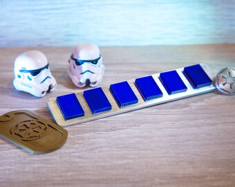 Star Wars Lieutenant  Imperial Rank Bar / ANH Line Officers Lieutenant, Stormtroopers High Colonel / Cosplay Prop, Empire Insignia