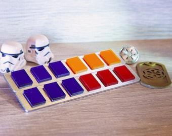 Imperial Officer Rank Bar, Star Wars / Grand Admiral Thrawn Rank Badge / Empire Insignia / Code Disk / Code Cylinder