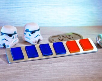 Imperial Officer Rank Bar / Star Wars A New Hope Commander Rank Badge / Rogue One Officer / Cosplay Prop / Code Disk / Code Cylinder