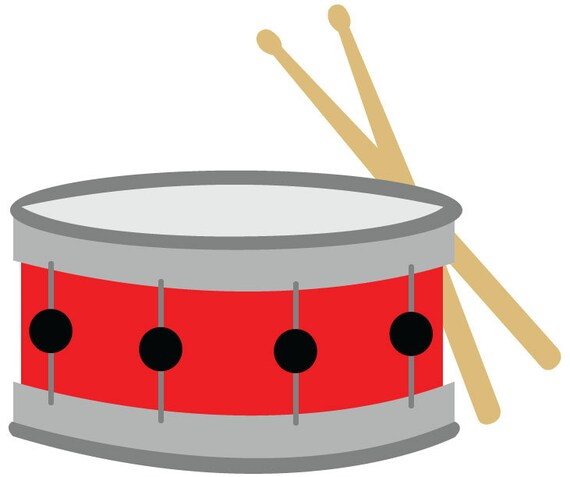 Snare Drum Clip Art Red Snare Drum With Drumsticks Vector Etsy