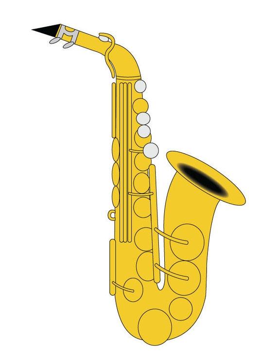 Saxophone Saxofón Música Estudiantes Vector Banda Arte De Para Alto Del Instrumento Clip Art Ilustración nwmONv80