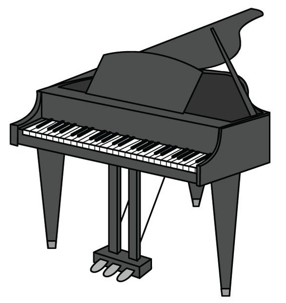 Piano Clip Art Vector Graphic Digital Download