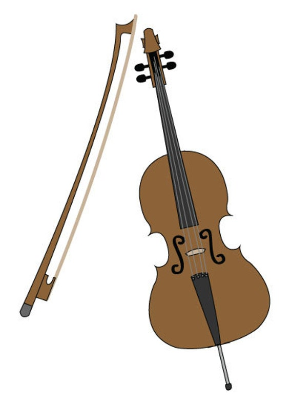 Cello Clip Art Vector Illustration Music