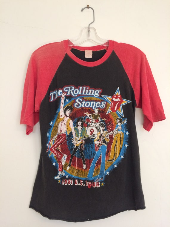 Vintage Rolling Stones Tshirt // 80s Rolling Stone